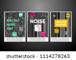 vector noise posters set with... | Shutterstock .eps vector #1114278263