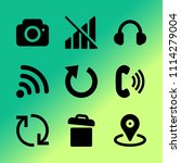 vector icon set about mobile...
