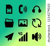 vector icon set about mobile...   Shutterstock .eps vector #1114279010