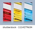 roll up banner template design... | Shutterstock .eps vector #1114279634