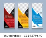 roll up banner template design... | Shutterstock .eps vector #1114279640