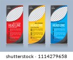 roll up banner template design... | Shutterstock .eps vector #1114279658