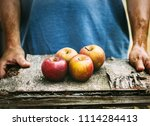 organic fruit and vegetables.... | Shutterstock . vector #1114284413