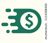 vector icon currency sign us... | Shutterstock .eps vector #1114288400