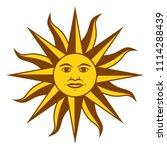 sun of may  spanish sol de mayo ... | Shutterstock .eps vector #1114288439