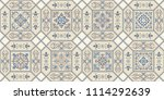 vintage seamless pattern in... | Shutterstock .eps vector #1114292639