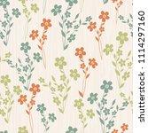 seamless floral pattern.... | Shutterstock .eps vector #1114297160