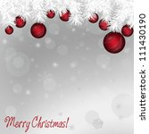 elegant christmas background | Shutterstock . vector #111430190