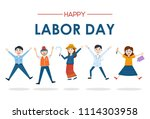 thailand labor day   people... | Shutterstock .eps vector #1114303958