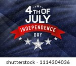 4th of july  american... | Shutterstock .eps vector #1114304036