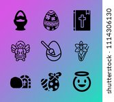 vector icon set about easter...