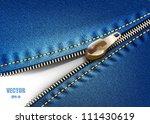 zipper jeans. eps 10 | Shutterstock .eps vector #111430619