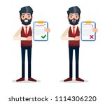male manager character with two ... | Shutterstock .eps vector #1114306220