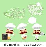 cartoon chef   logo and mascots ... | Shutterstock .eps vector #1114315079