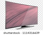 curved tv screen lcd  plasma... | Shutterstock .eps vector #1114316639