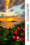 sunset at gumusluk  bodrum ... | Shutterstock . vector #1114316759