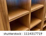 wardrobe made of mdf and oak... | Shutterstock . vector #1114317719