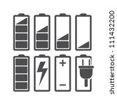 set of battery charge level... | Shutterstock .eps vector #111432200