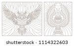 set contour illustration of a...   Shutterstock .eps vector #1114322603
