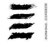 vector set of grunge brush... | Shutterstock .eps vector #1114328258
