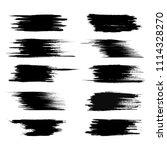 vector set of grunge brush... | Shutterstock .eps vector #1114328270