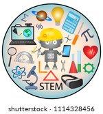 stem education web icon | Shutterstock .eps vector #1114328456