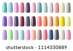 nail polish in different... | Shutterstock . vector #1114330889