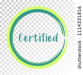 teal certified stamp products... | Shutterstock .eps vector #1114331816