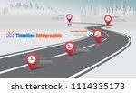 business road map timeline... | Shutterstock .eps vector #1114335173