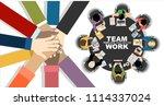 flat design illustration... | Shutterstock .eps vector #1114337024