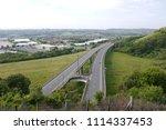 m20 motorway overpass with town ...   Shutterstock . vector #1114337453
