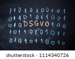dsgvo  datenschutz... | Shutterstock . vector #1114340726