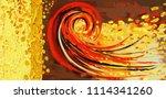 collection of designer oil... | Shutterstock . vector #1114341260