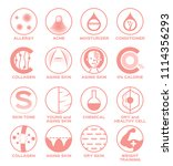 skin icon set vector   allergy... | Shutterstock .eps vector #1114356293