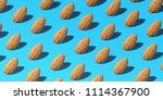 creative pattern almond... | Shutterstock . vector #1114367900