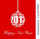 Stylized New Year 2013 Ornamen...