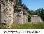 Small photo of Fortification architectural monument, redan.