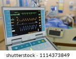 patient with modern health care ...   Shutterstock . vector #1114373849