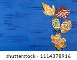 Hand Painted On Dry Autumn...