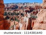 bryce canyon national park ... | Shutterstock . vector #1114381640