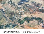 aerial view of a maasai village ... | Shutterstock . vector #1114382174