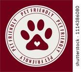 pet friendly label  sticker ... | Shutterstock .eps vector #1114386080