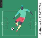 european football  soccer...   Shutterstock .eps vector #1114390226