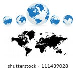 world map | Shutterstock .eps vector #111439028