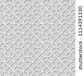 3d white paper art islamic...   Shutterstock .eps vector #1114391330