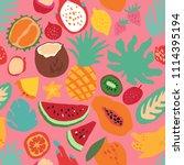 minimal summer trendy vector... | Shutterstock .eps vector #1114395194