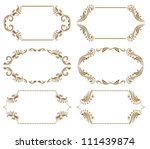 set of ornate floral vector... | Shutterstock .eps vector #111439874