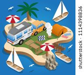 camping. beach vacation.... | Shutterstock .eps vector #1114398836