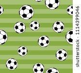 seamless pattern football on... | Shutterstock .eps vector #1114399046