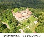 kyburg castle located between... | Shutterstock . vector #1114399910